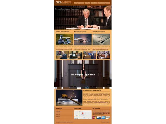 Готовый сайт визитка адвоката